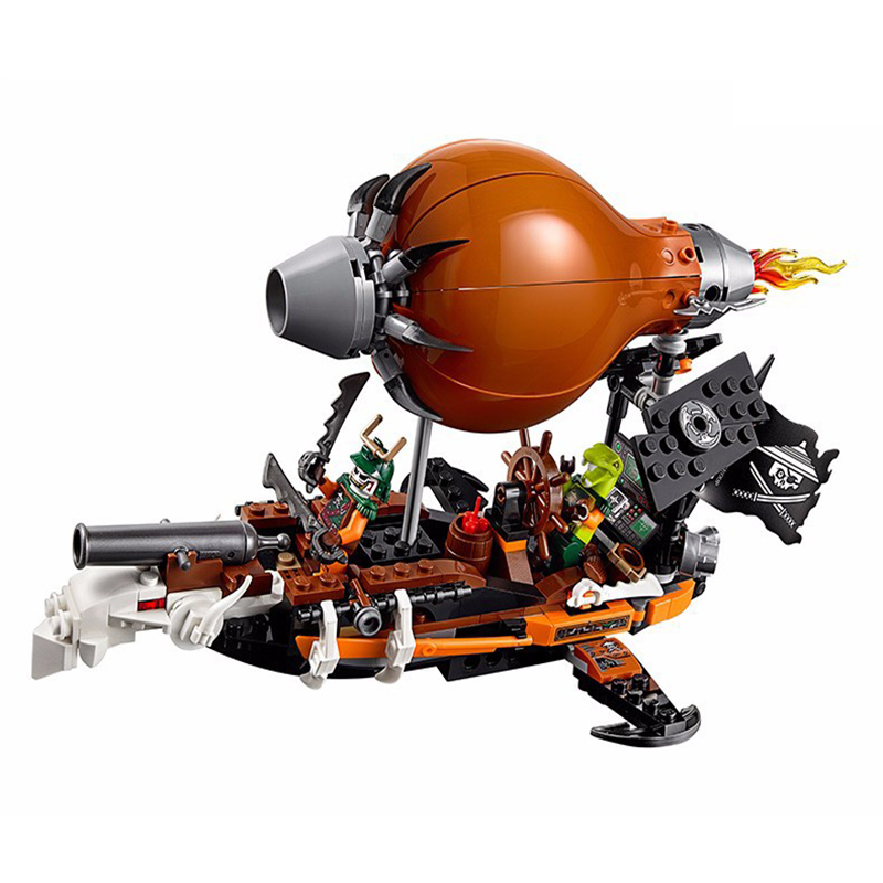 10448 318Pcs Ninjago Airship Raid Zeppelin Weapon Model Building Blocks Classic Enlighten Action Figure Toys For Children азбука 978 5 389 10448 8