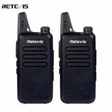 2 unids mini walkie talkie retevis rt22 2 w uhf 400-480 mhz 16ch ctcss/dcs tot vox exploración de silenciamiento radio de dos vías comunicador a9121a
