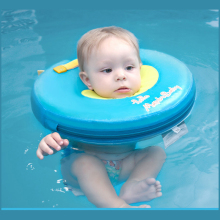 Infant free inflatable child safety swimming ring collar baby neck Swim Circle Float pool a