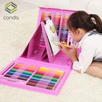 Подарочная коробка для детской Живописи Набор акварельных принадлежности Художественные кисти