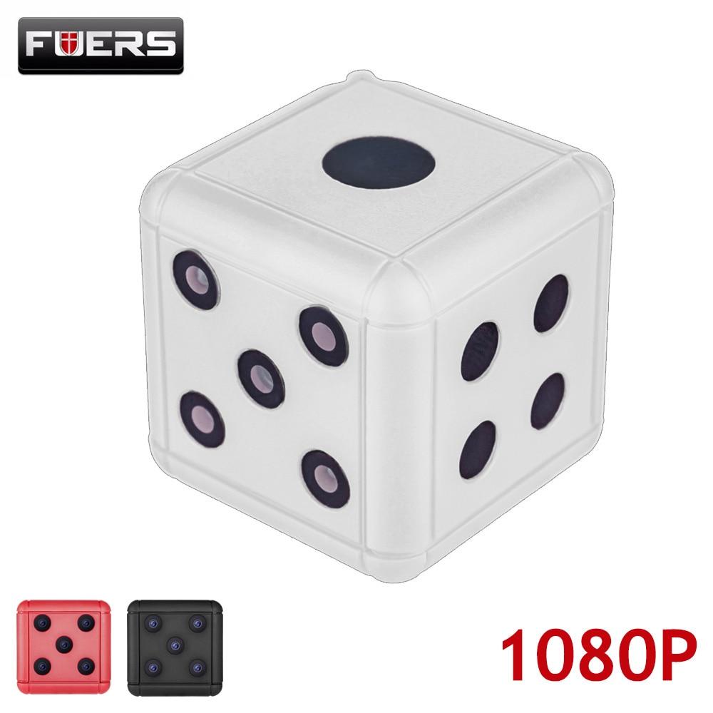 купить Fuers New 1080P HD Mini Camera Action Surveillance Camcorder Video Recording Infrared IR Motion Night Vision Cam Support TF Card по цене 1241.63 рублей