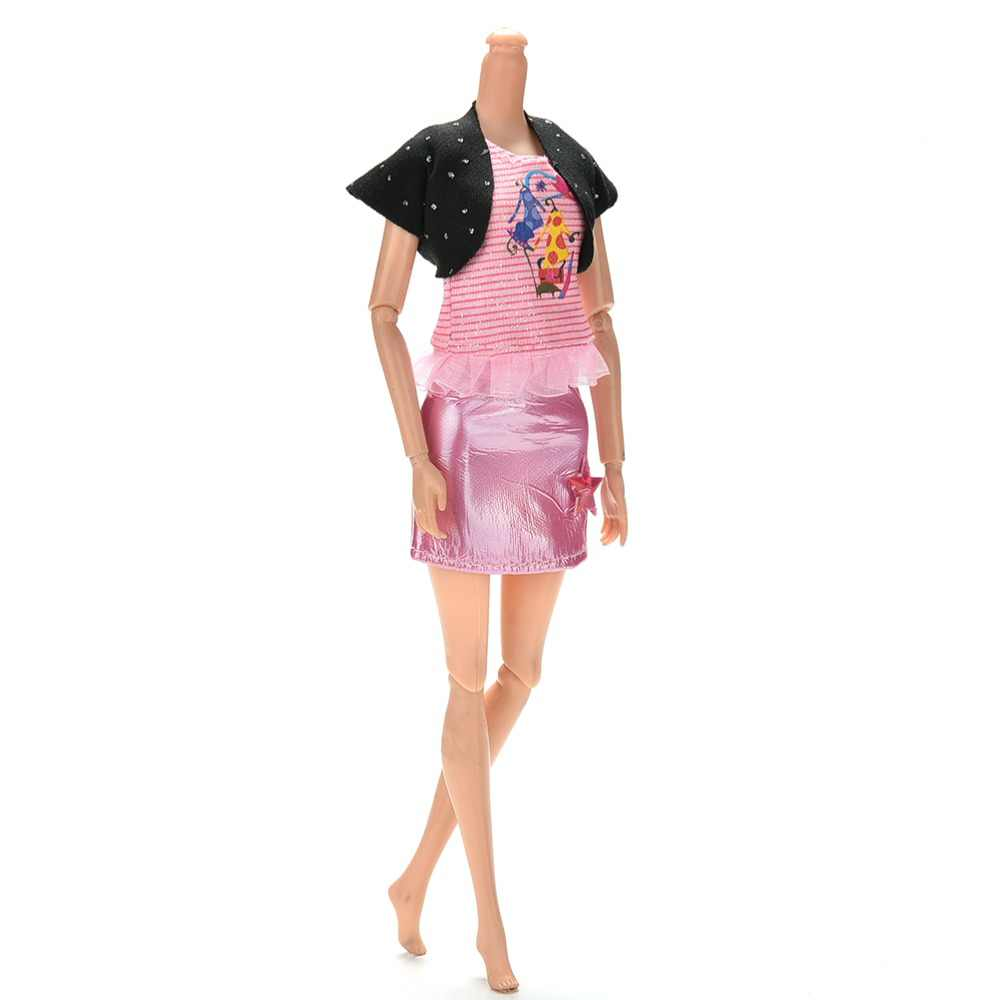 """TOYZHIJIA 3 Pcs/Set fashion summer Cute Clothes for Barbies 11""""Handmade Doll Clothes Dress for Barbies Dolls"""