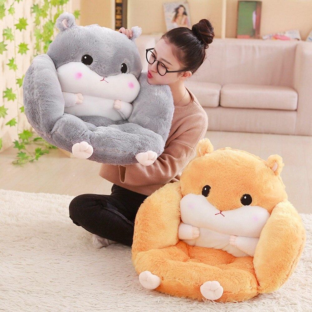 Cute hamster waist cushion hamster waist pillow bedside chair cushion doll plush toy wellhouse wh00115 inflatable cushion waist pillow grey