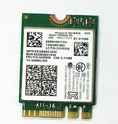Galleria fotografica SSEA nouveau pour <font><b>Intel</b></font> Sans Fil-N 7260 7260NGW 7260BN NGFF Wlan Wifi Bluetooth 4.0 pour IBM Thinkpad L440 T440 T440P X240 X230S T540