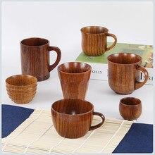 Маленькая традиционная ручная работа из натурального цельного дерева чашка для вина деревянная чаепитие высокое качество Прямая поставка