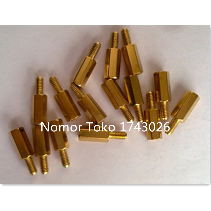 Pengiriman Gratis 50 Pcs 10 + 6 Copper Column 10 Mm High 10 Mm Copper Column M3 Hexagonal Copper Column Separation Column Ic ...