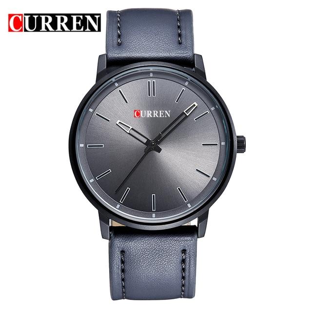 Curren Элитный бренд Relogio masculino Дата кожаная повседневная часы мужские спортивные часы кварцевые наручные часы военные мужской часы 8233