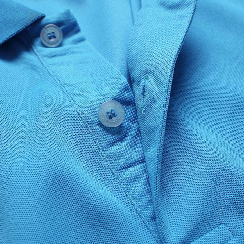 Men Collar Polo T-Shirts Plain Slim Fit Gym Sleeve Tee Tops Sports Golf Tennis Shirt