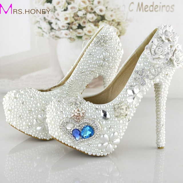 online shop new style heart of handmade wedding shoes noble