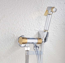 Chrome Brass Multi function Sprayer Gun Suit Bathroom Bidet Faucet Tap