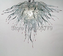 Free Shipping Fashionable Blown Glass Amber Chandelier