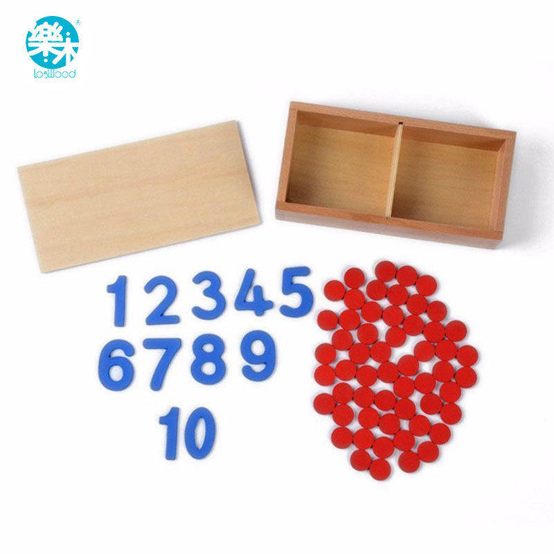 Montessori Educational Wooden Toy Cards & Counters Math Number for Early Childhood Preschool Training Kids Toys wooden educational tool number building blocks number sticks kids math learning educational toy ao p