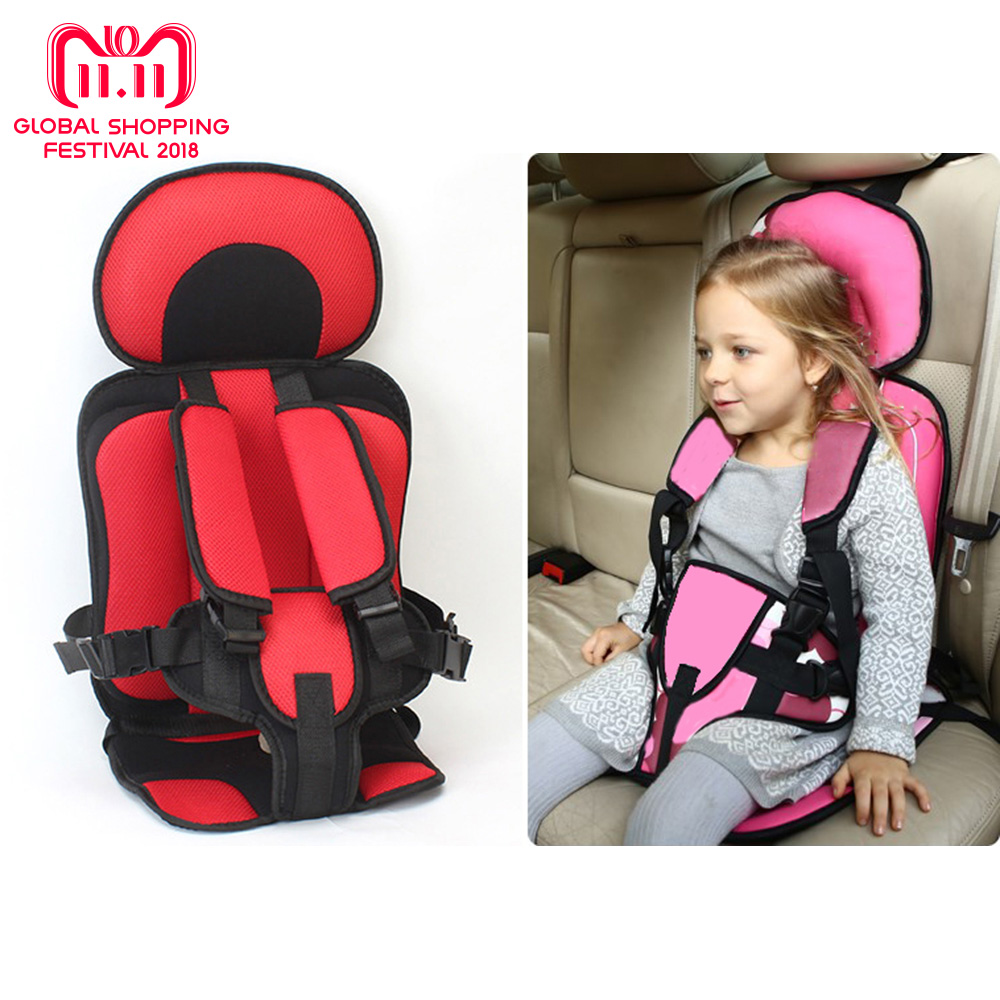 все цены на Children Chairs Cushion Baby Safe Car Seat Portable Updated Version Thickening Sponge Kids 5 Point Safety Harness Vehicle Seats