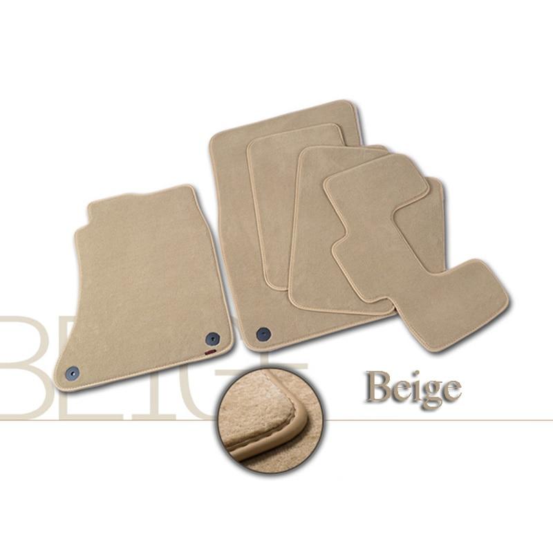 4pcs Premium Solid Nylon negro alfombras de piso del coche alfombra - Accesorios de interior de coche - foto 5