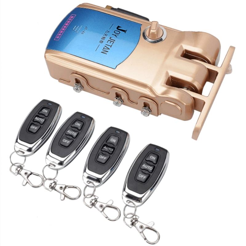 Controllo Remoto di sicurezza Serratura Elettronica Set Smart Serrature Intellisense Automaticamente Famiglia Scongiurato Serratura con 4 Telecomandi