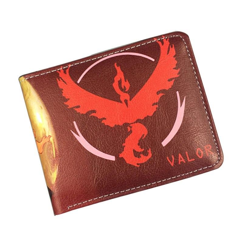 Cartoon Leather Purse Pokemon Go Ball Game Wallets Anime Pocket Monster Dollar Bags carteira Gift Boy Girl Folded Short Wallet