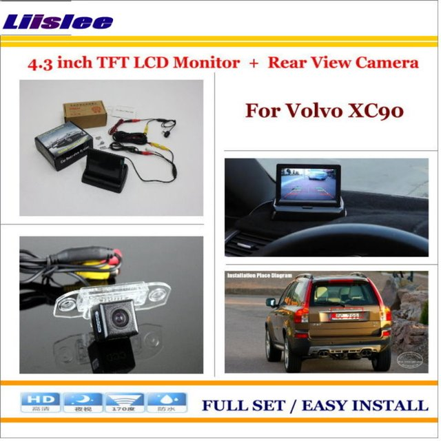 """6 5 Car In Dash Touch Screen Monitor For Volvo Xc90: Liislee For Volvo XC90 Car Parking Camera + 4.3"""" LCD"""
