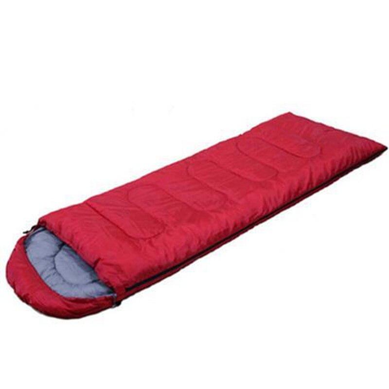 Спальный мешок для кемпинга, теплый зимний спальный мешок для взрослых, спальный мешок для путешествий, Прямая поставка - Цвет: Красный