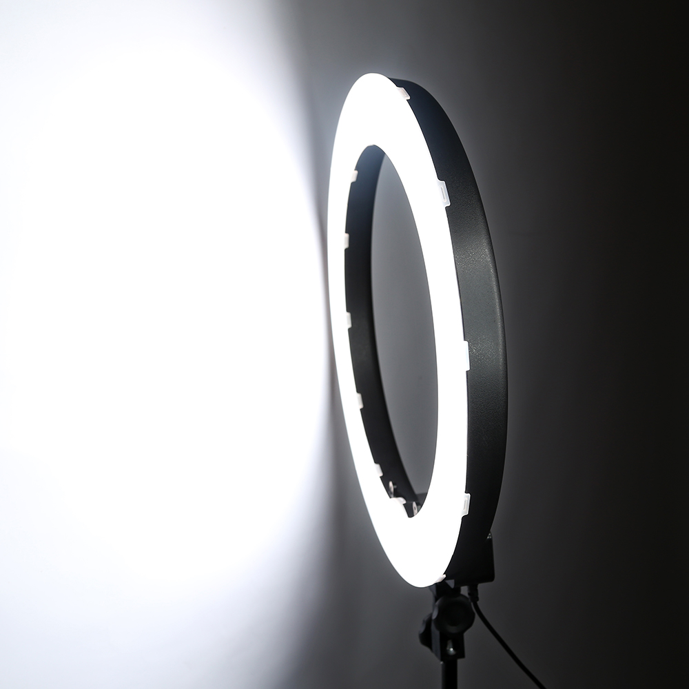 HTB1UBdLdrsTMeJjy1zeq6AOCVXaL 55W 18inch Camera Phone LED Ring Light Photography studio Dimmable Ring Lamp With Stand Tripods For TikTok Youtube Makeup Video