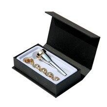 Музыкальный инструмент профессиональная труба мундштук Латунь Золото Посеребренная 3C 2C 2B 3B труба аксессуары