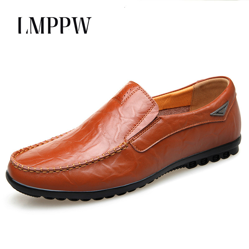 Men Loafers Breathable Casual Men's Leather Shoes New 2018 Autumn Men Loafers Slip on Driving Shoes High Quality Men Flats Shoes