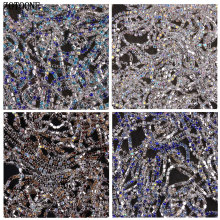 ZOTOONE SS10 1Yard Glitter Crystal Rhinestones for Clothing Loose Flatback Sew on Rhinestone Chain AB Glass with Claw