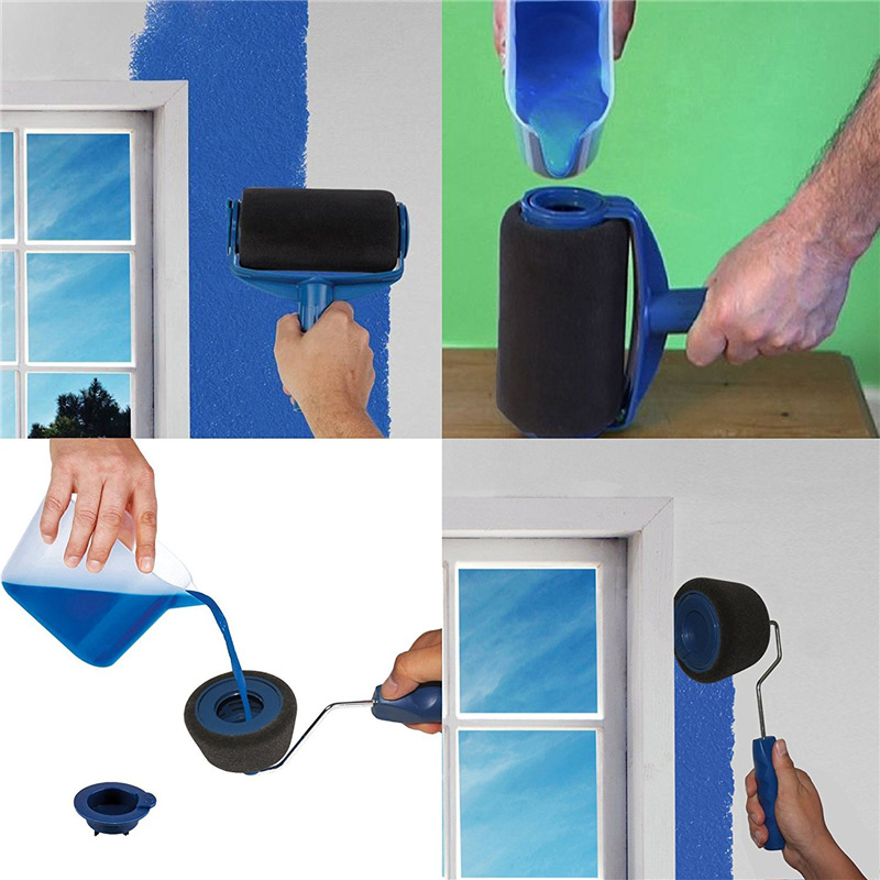 Image 5 - 8pcs Paint Roller Multifunctional Household Use Wall Decorative Paint Roller Brush Tool Painting Brushes Set-in Paint Rollers from Home Improvement