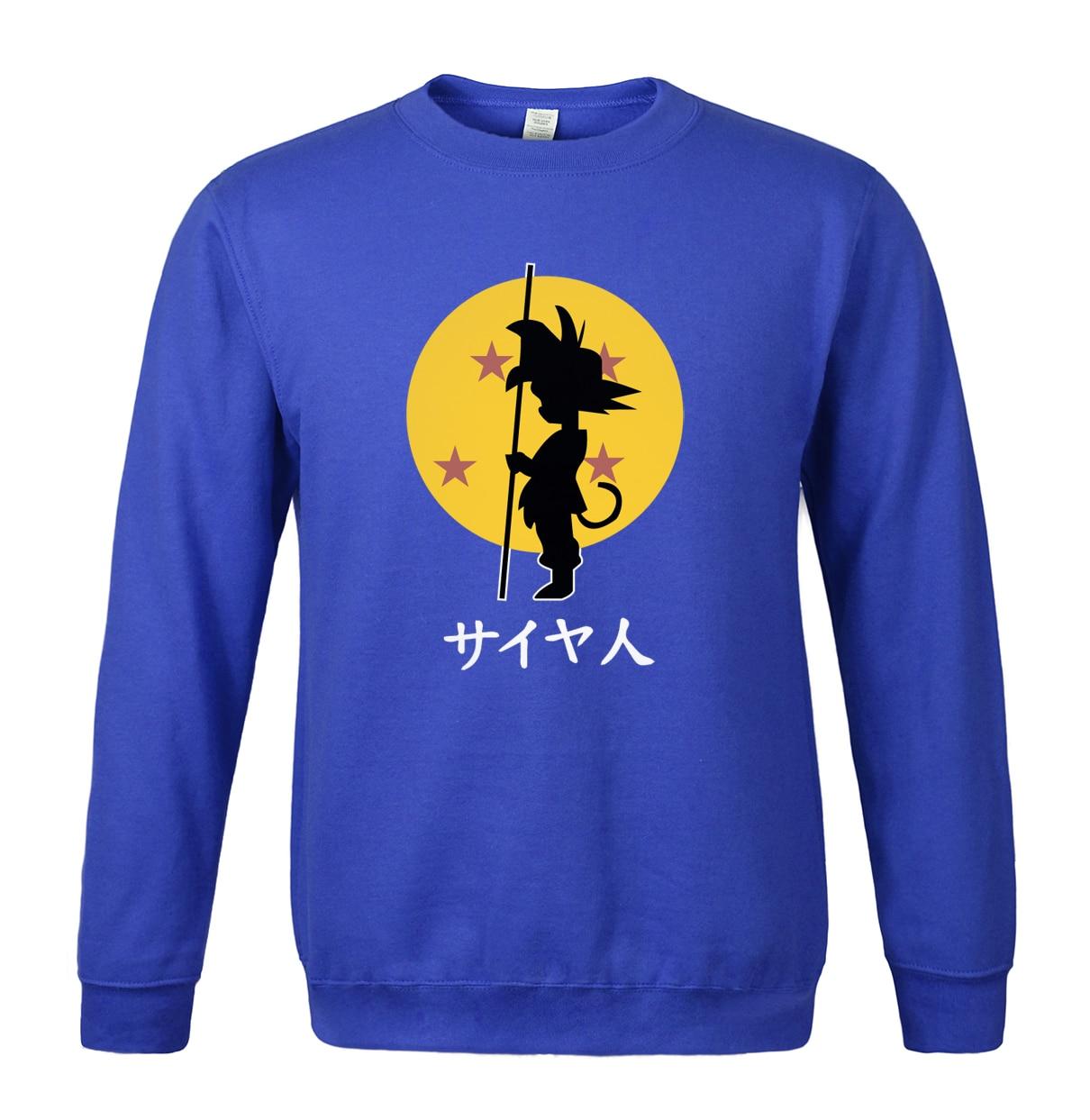 Anime Dragon Ball Z Goku Cartoon Spring winter 2018 sweatshirt men hot sale fashion hoodies O-neck brand clothing tracksuits