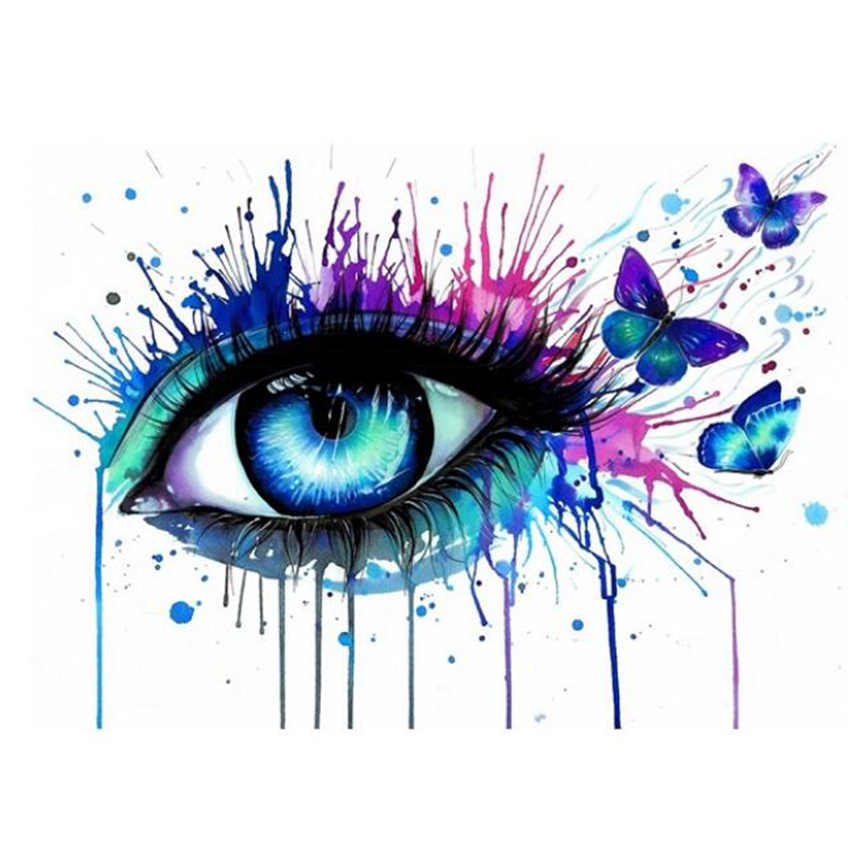 Decorative Canvas Painting By Numbers Colorful Eye,Diy Oil Figure