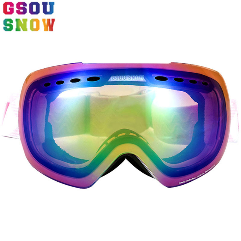 Gsou Snow Ski Goggles For Men Women Winter Outdoor Professional Snowboard Protection Unisex Snow Skiing Sports Anti-fog Glasses polisi winter snowboard snow goggles men women double layer large spheral lens skiing glasses uv400 ski skateboard eyewear