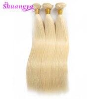 Malaysian Straight Hair Bundles 613 Blonde Hair 100% Human Hair Bundles 10 26Inch Honey Platinum Shuangya Remy Hair Extensions