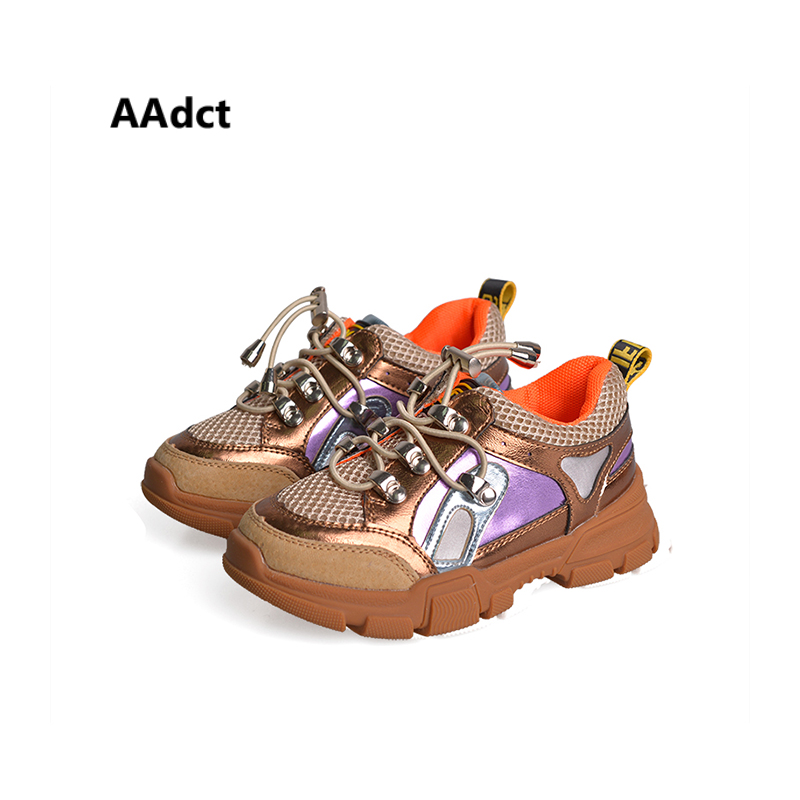 AAdct Autumn Breathable running shoes for girls boys Non-slip sneakers children shoes 2018 Casual sports kids shoes