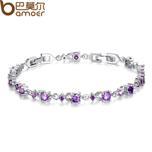 6 Colors Luxury Rose Gold Color Chain Link Bracelet for Women