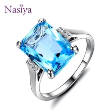 Fine silver 925 Jewelry Top Brand Luxury Sterling Silver rings For Women 2018 Finger ring New Accessories Party Wedding Gifts(China)