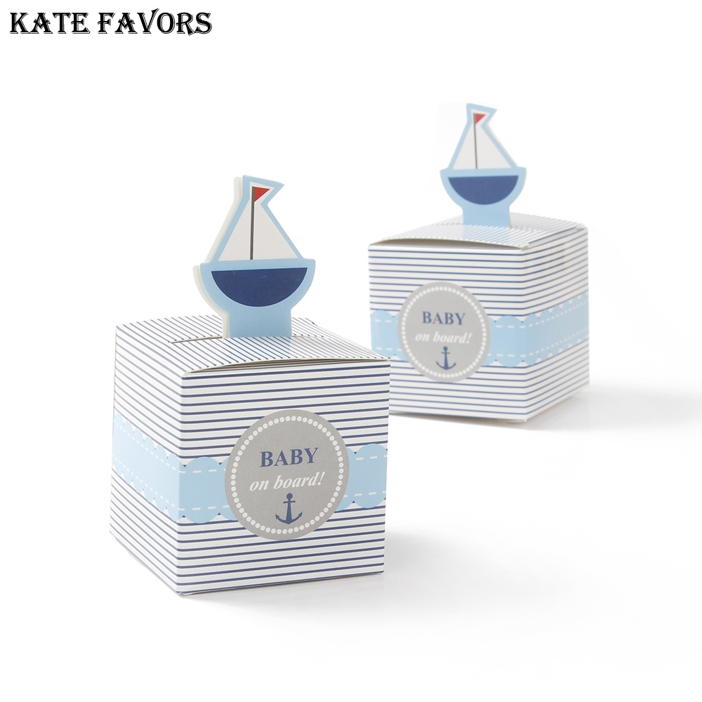 Baby Shower Decoration Favor Box ,Baby On Board Wedding Boxes Gift Baby Shower Favors Gifts Candy Boxes