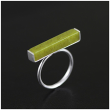 11.11 Big Sale New Genuine 925 Sterling Silver Handmade Jewelry Exclusive Design Ring For Women Natural Olivine Xmas Gift