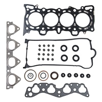 Car Cylinder Head Cover Exhaust Manifold Gasket Eiton Valve Stem Seal O ring Kit For Honda Civic VI Coupe HR V D16W1 D16Y7 D16Y8