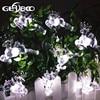 4 8M 15 7ft 20LEDs Romantic Elk Design Solar String Lights For Outdoor Garden Party Christmas