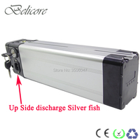EU US no tax top discharge 250W Silver Fish Ebike Battery 36V 12ah electric bicycle Lithium Ion Battery Pack