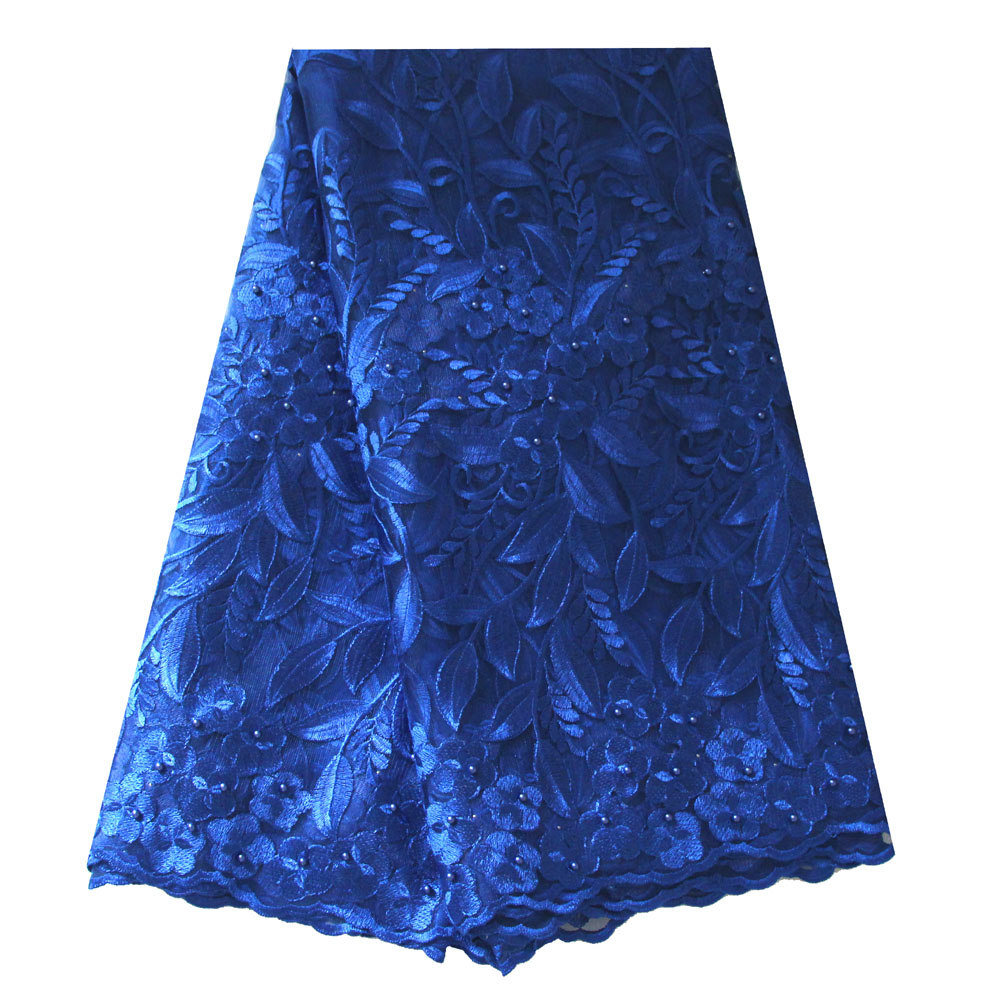 Royal blue lace fabric
