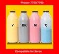 Recarga de toner de cor compatível para xerox Phaser 7750 7760 cartucho de toner a cores em pó pó de alta qualidade frete grátis