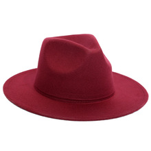 Womens Felt Fedora Big Brim Hats