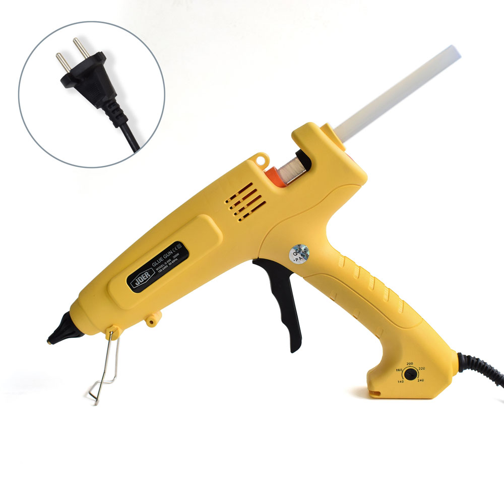 ФОТО  EU Plug300W Hot Melt Glue Gun Smart Temperature Control Professional Copper Nozzle 110V 220V Heater Heating Wax