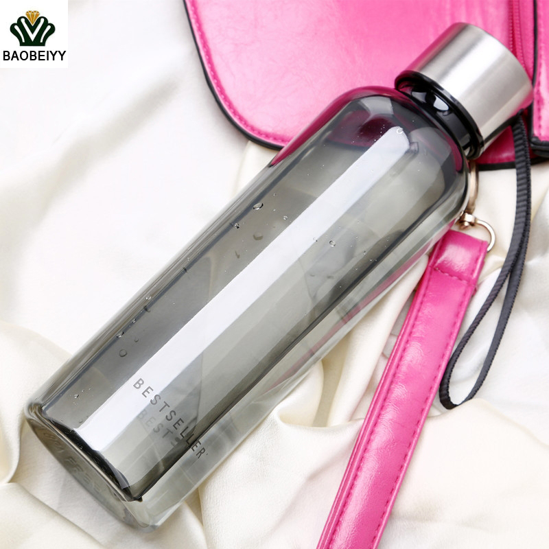 Fashion Side rope Unbreakable Water Bottle For Summer My Sports Bottles Unbreakable Portable Plastic Kettle Water