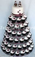 Details about 7 Tier Crystal Clear Acrylic Round Cup Cake Stand Tower Wedding Baby Shower deco