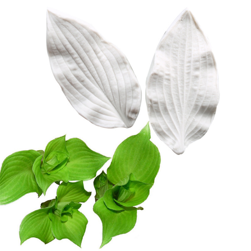 Hosta leaves Silicone Mold Fondant Flowers Mould Cake Decorating Tools Chocolate Gumpaste Mold Sugarcraft Clay flower