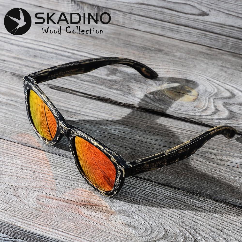 f656dcf7ebcd94 SKADINO Bambou En Bois Plein UV400 lunettes de Soleil Polarisées Mode  Lunettes de Soleil pour Femmes Hommes Cool Enduit Lentille Rouge À La Main  Marque