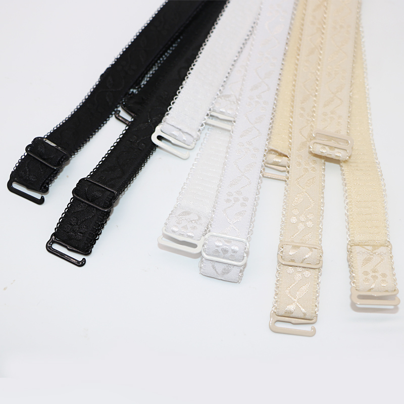 3pair Womens Bra Straps Belt Replacement Jacquard Floral Intimate Underwear Women Adjustable Brassiere Shoulder Strap Lingerie