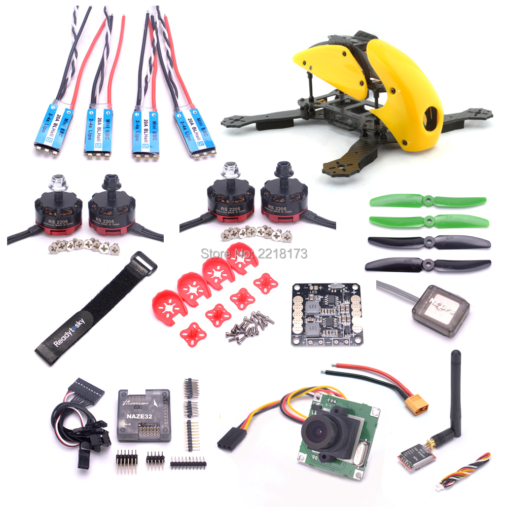 Robocat 270 270mm Quadcopter Naze32 Rev6 6DOF 10DOF F3 Acro Deluxe flight controller RS2205 2300kv motor