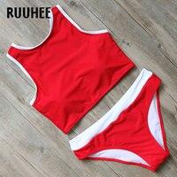 RUUHEE Brand Bikini Swimwear Women Swimsuit 2017 High Neck Bikini Set Bathing Suit Beachwear Push Up